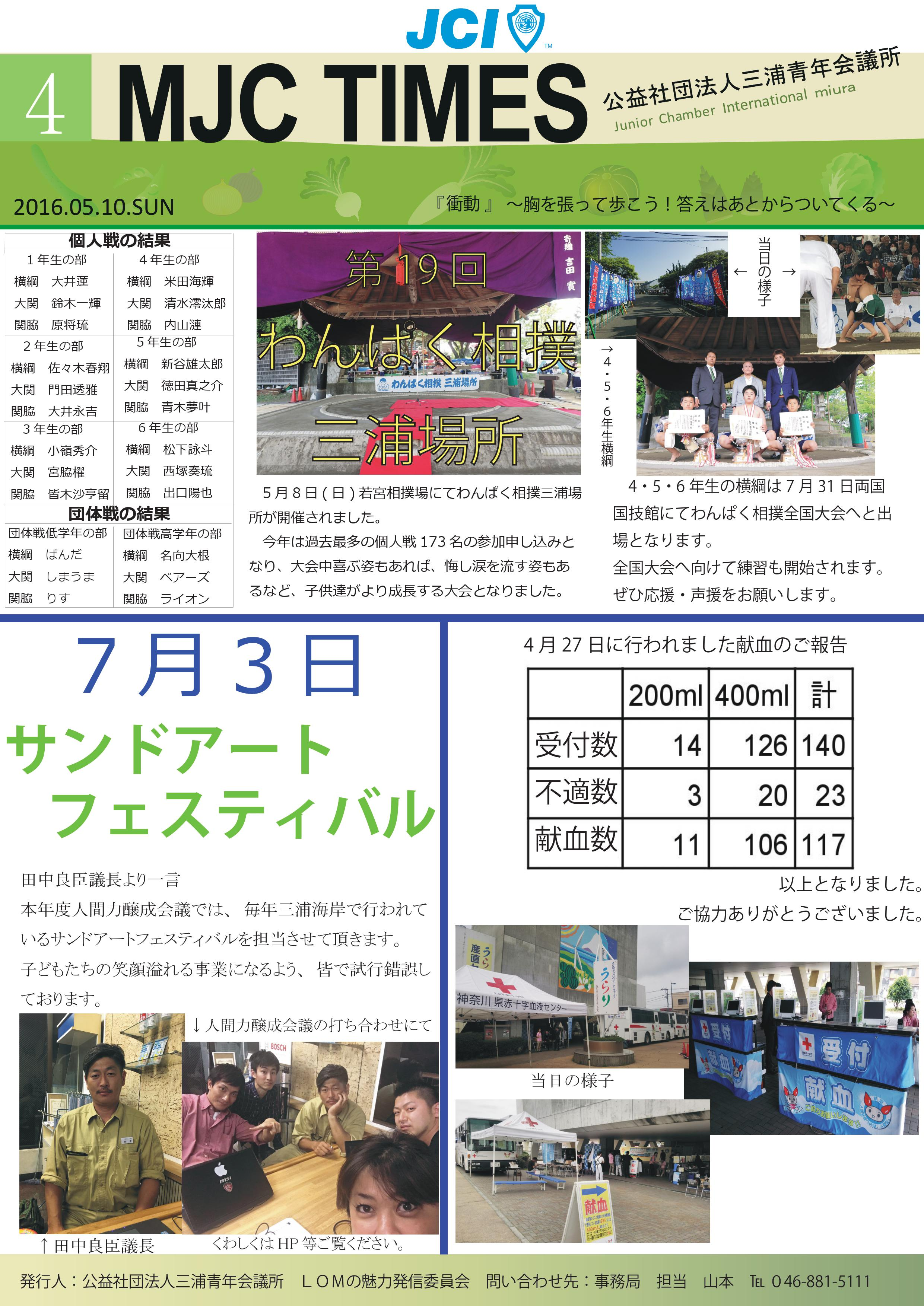 THE MJC TIMES 4月号